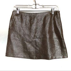 TopShop Gold Mini Skirt Size 6